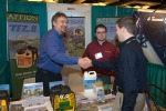Vendors meet prospective customers at the tradeshow