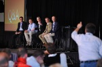 A panel fields Questions and Answers at the 2011 Microsoft Worldwide Partner Conference in Los Angeles. Event photography captured by William Morton of Morton Visuals.